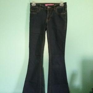Glo Midrise Flare Dark Blue Jeans
